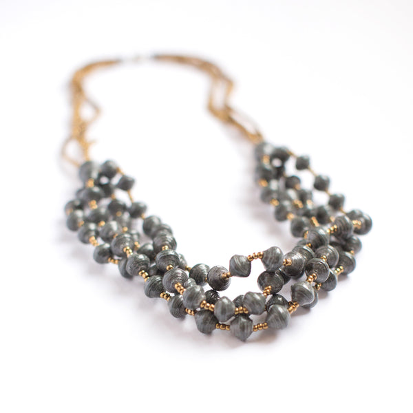 Charcoal  Chunky Necklace