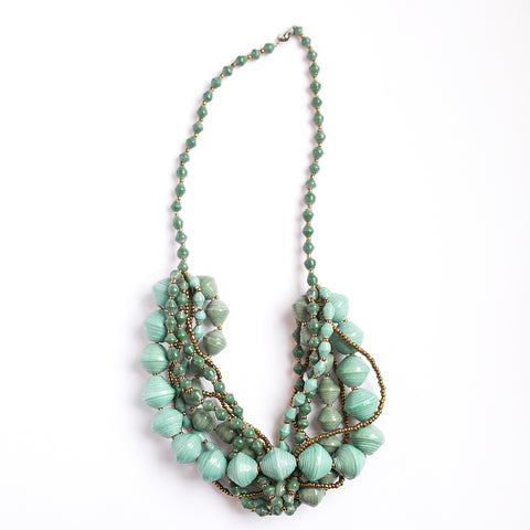 Teal and Green Chunky Necklace