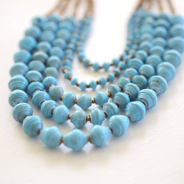 Blue layered Necklace