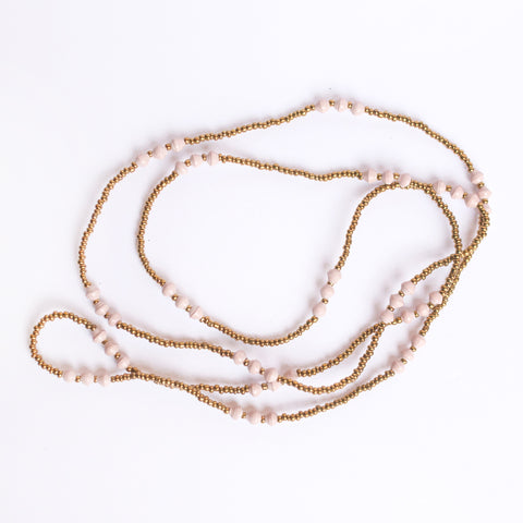 Single Strand Gold and Blush Necklace