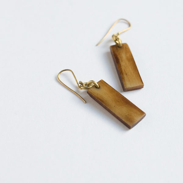 Brown Bar Earrings