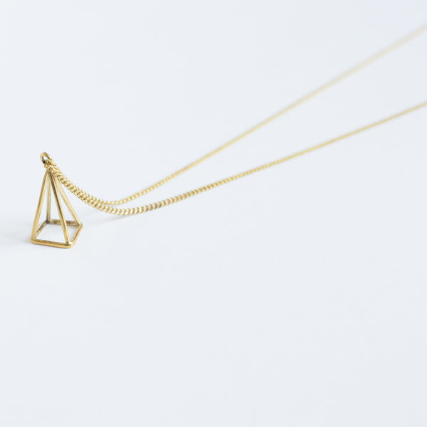 Brass Geometric Necklace