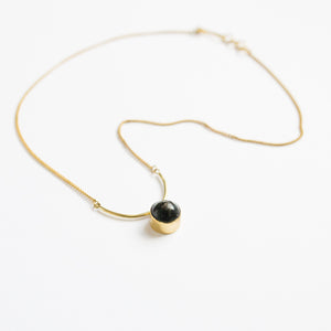 Black Circle Arc Necklace