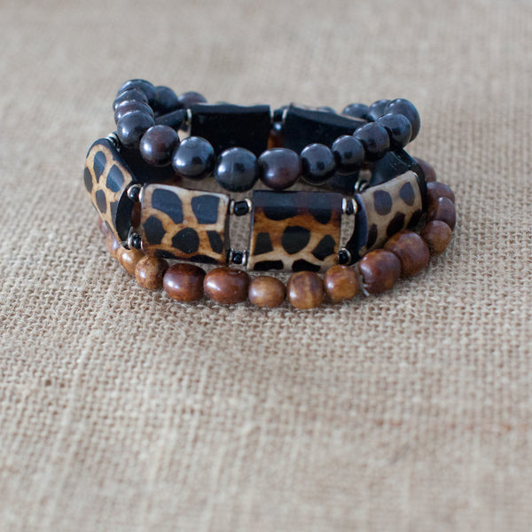 Brown Single strand Bone bracelet