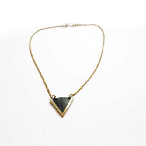 Short Black Triangle Necklace