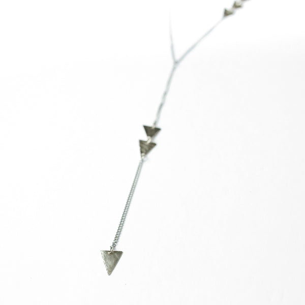 Long Silver Arrow Necklace