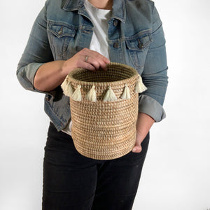 Large Tassel Basket