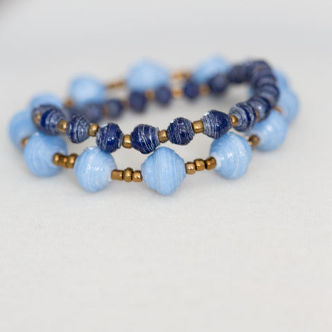 Dark and Light Blue Bracelet Set