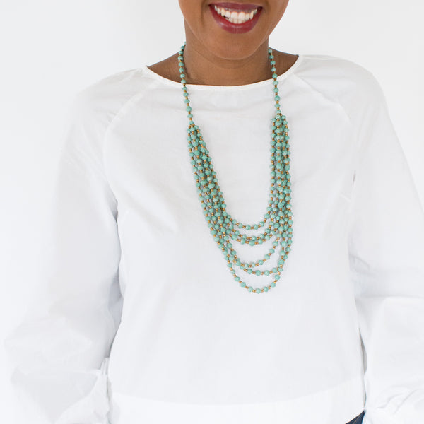 Layered Teal Necklace