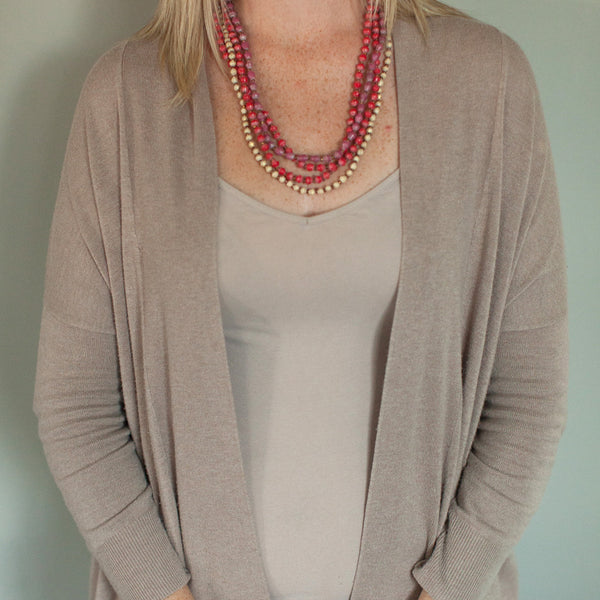 Paper Bead Twist Necklace - Price reduced