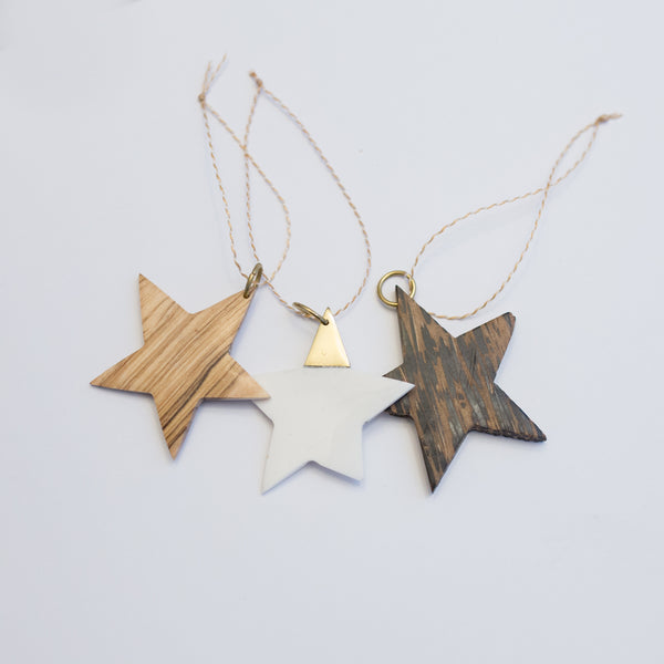 Star Christmas Ornaments - various