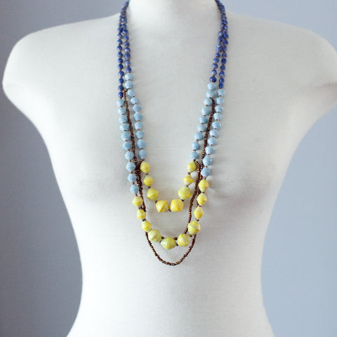 Layered Paper Bead Necklace