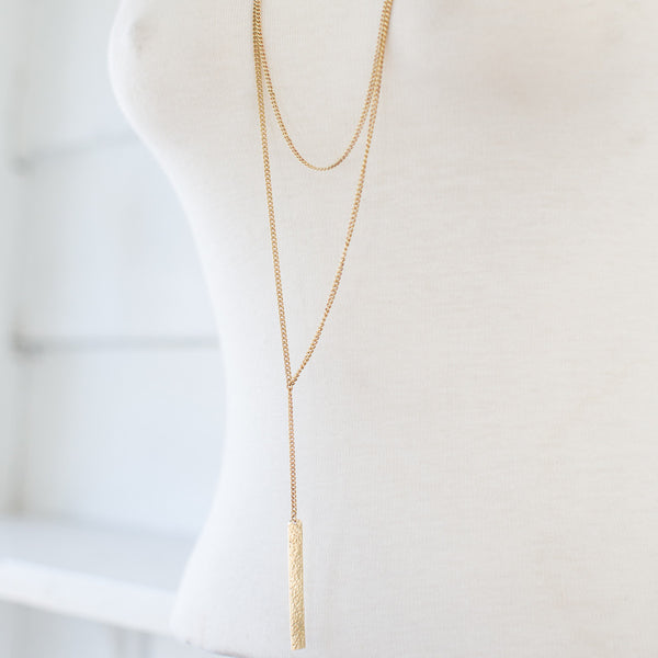 Layered Brass Necklace