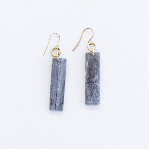 Grey Bar Earrings