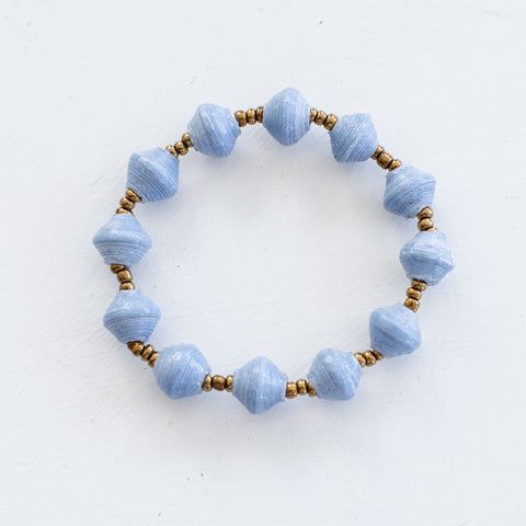 Light Blue Paper Bracelet