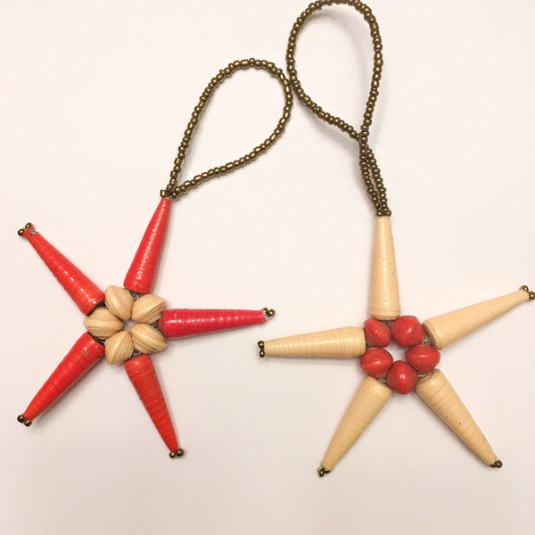Red Star Christmas Ornament Set