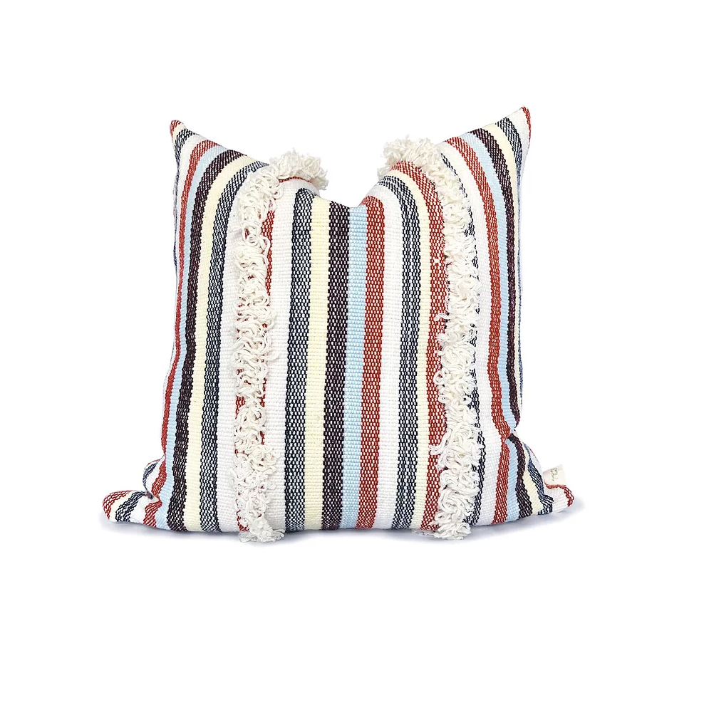 Boho Fringe - Farm House Pillow Cover