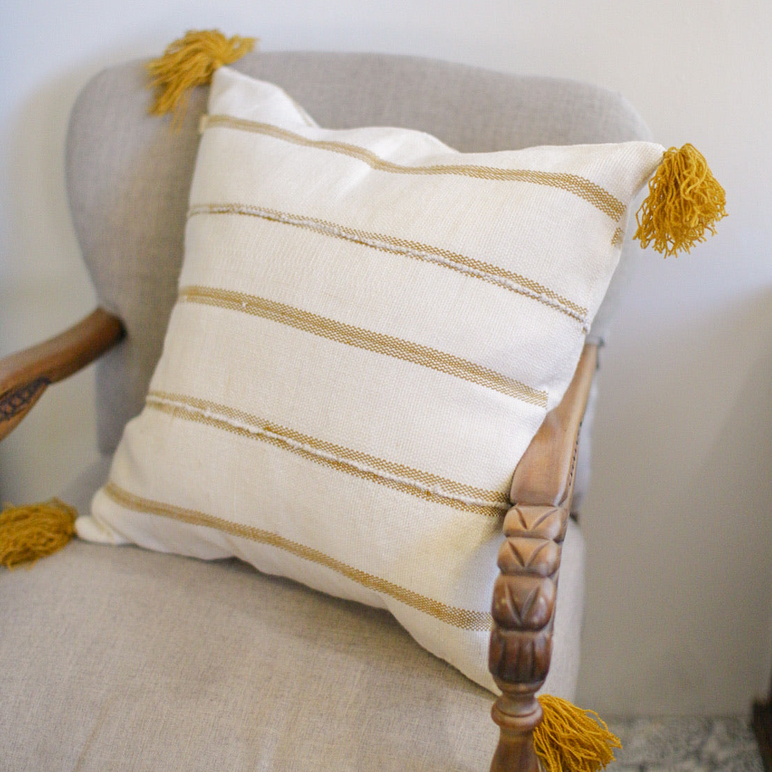Path Throw - Gold Throw Pillow Cover