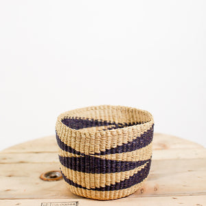 Small Plant Basket - Natural and Black