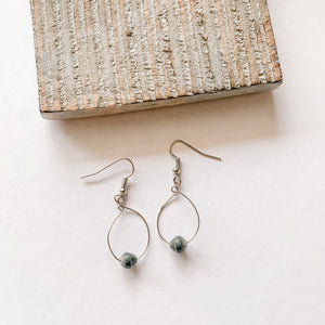 Small Twere Earrings - various colours/silver wire
