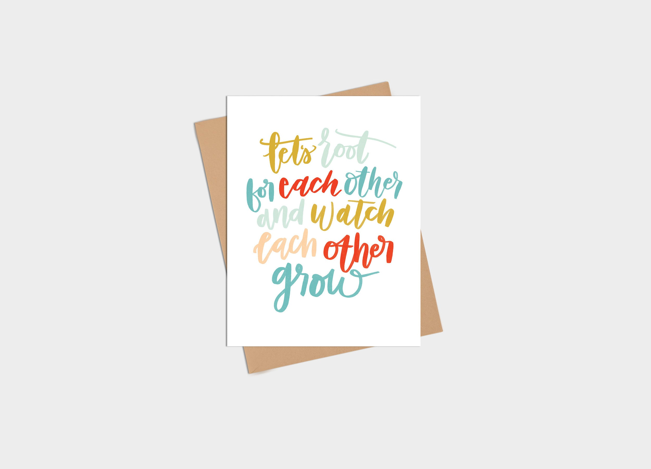 Card - Encouragement - Let's Root for Each Other