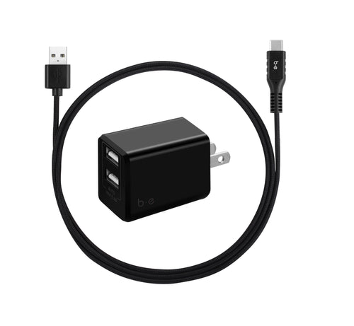 Ventev 509422 Global Wall Charging Hub w/Extra USB 2.4A Black