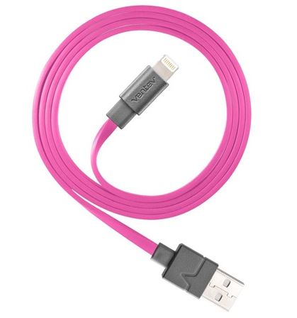 Ventev 512063 Charge/Sync Cable Lightning 3.3ft Pink