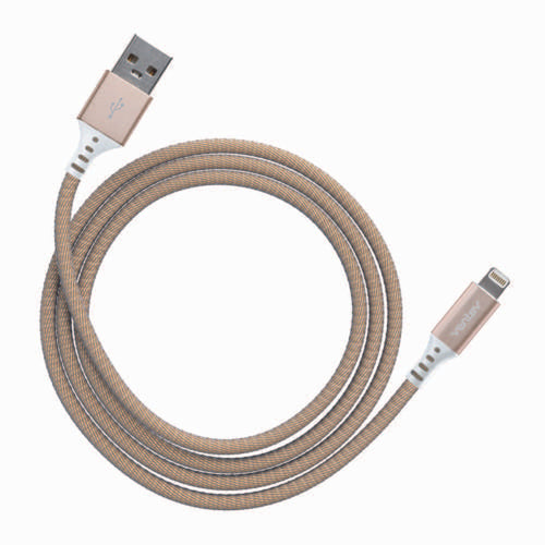 Ventev Charge/Sync Metallic Cable Lightning 3.3ft Gold