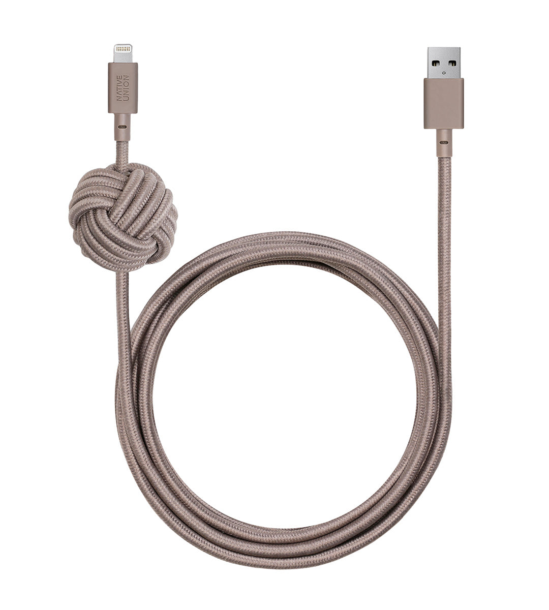 Native Union NCABLEKVLTAU Charge/Sync Night Cable Lightning Taupe