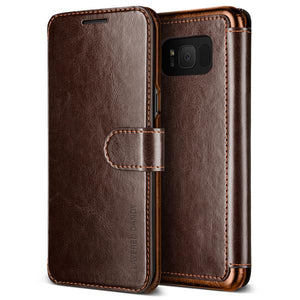 Vrs Design Layered Dandy Folio Case Brown for Samsung Galaxy S8