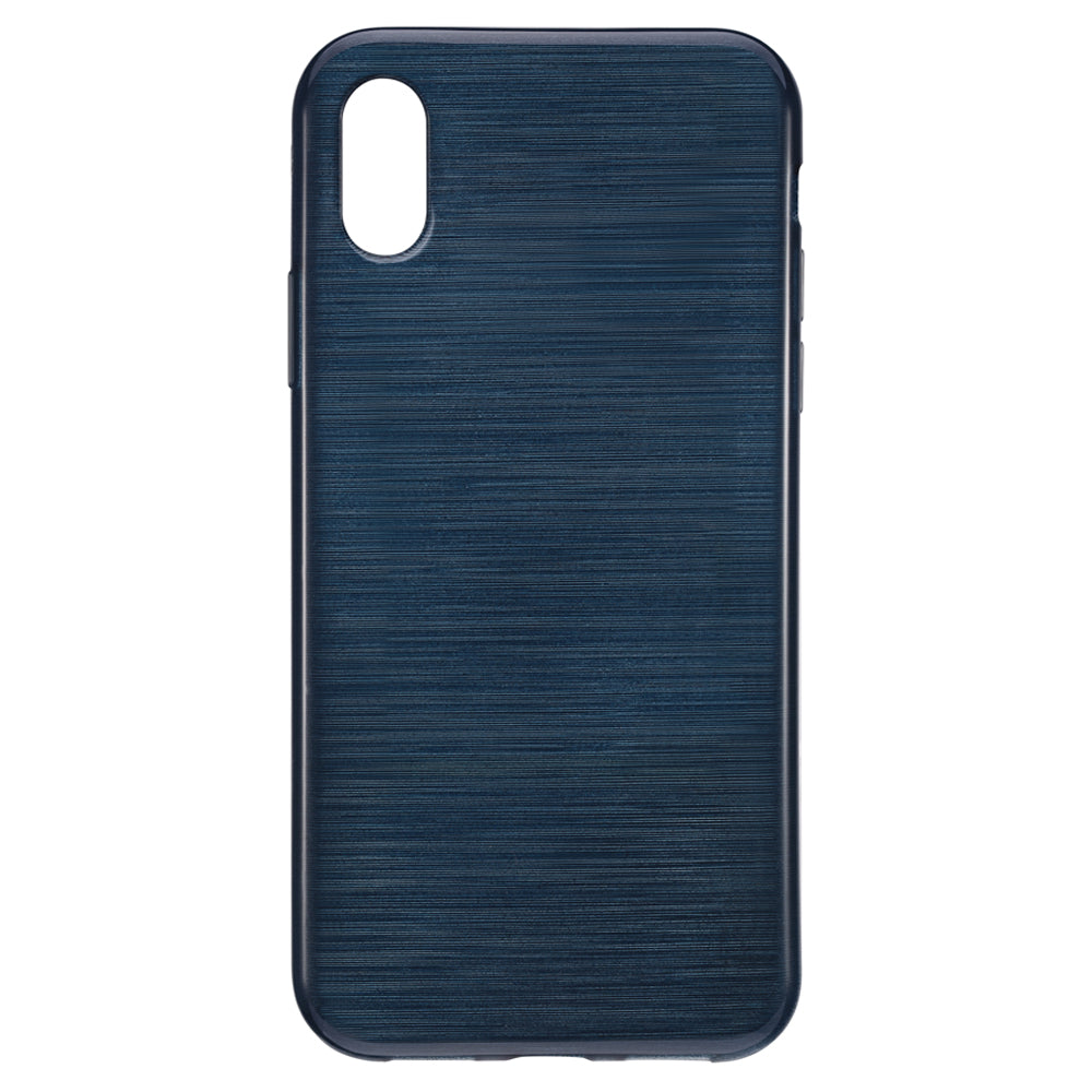 Blu Element Brushed Gel Skin Navy Blue for iPhone XS/X
