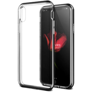 Vrs Design Crystal Bumper Clear Case Metallic Black for iPhone XS/X