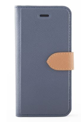 Blu Element Simpli Folio Case Navy/Tan for iPhone XS/X