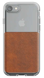 Nomad Clear Case Brown for iPhone 8/7