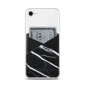 Casetify Saffiano Leather Pocket Black Marble