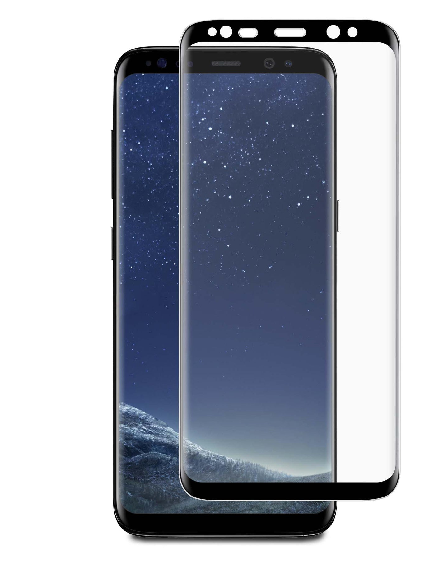 Blu Element 3D Curved Glass Case Friendly Screen Protector Black for Samsung Galaxy Note8