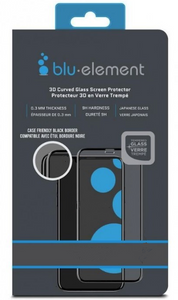 Blu Element 3D Curved Glass Case Friendly Screen Protector Black for Google Pixel 2