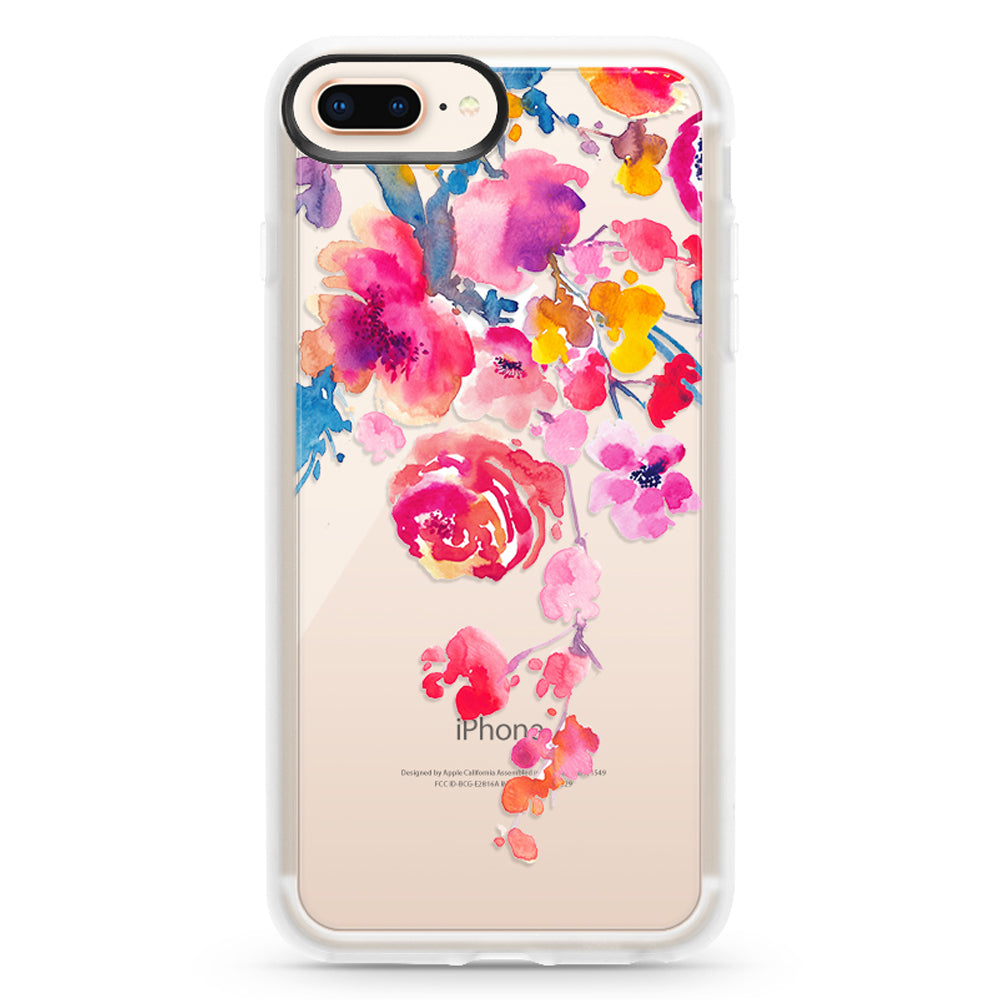 Casetify Grip Case Pink Confetti Watercolor for iPhone 8+/7+/6S+/6+