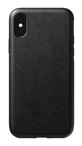 Nomad Rugged Leather Case Black for iPhone XS/X