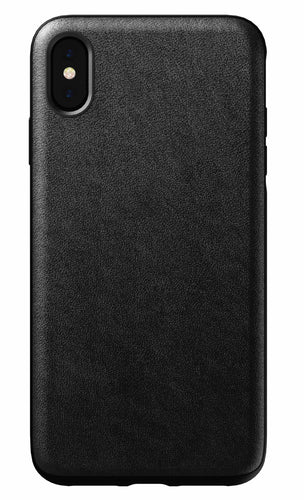 Nomad Rugged Leather Case Black for iPhone XS Max
