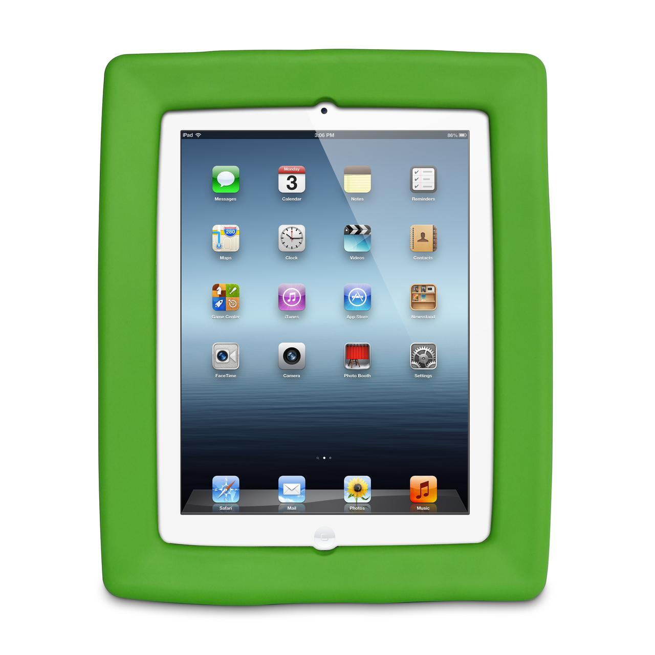 Big Grips Frame Case Green Bulk for iPad 9.7 2018/iPad 9.7 2017/iPad Air 2/Air