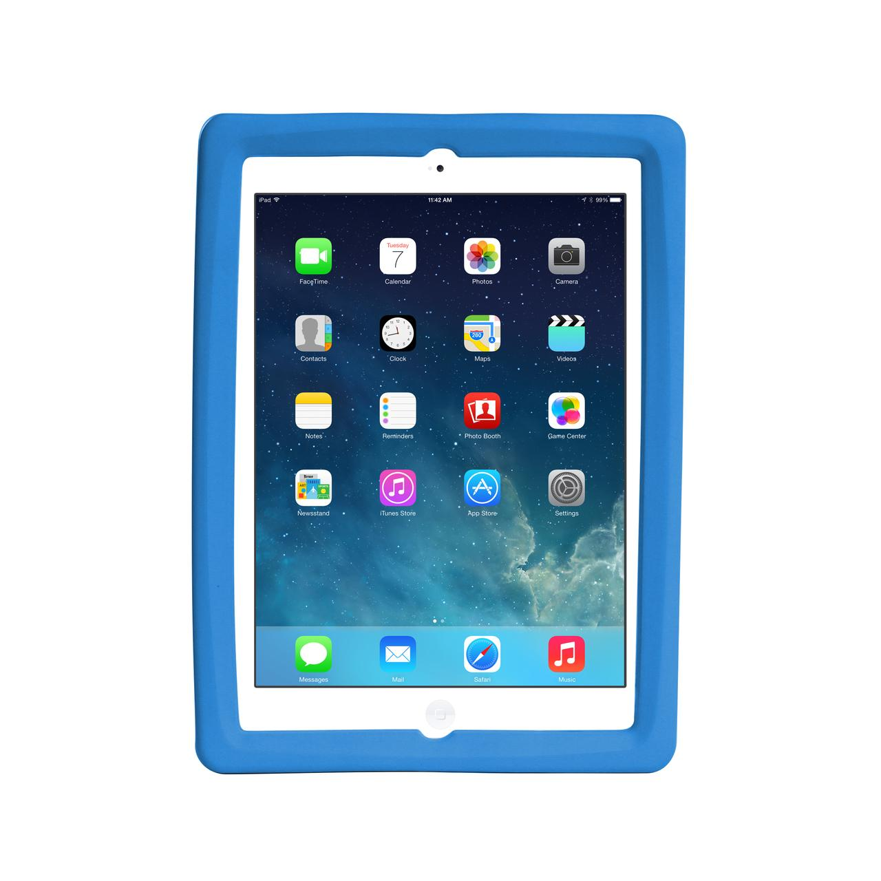 Big Grips Slim Case Blue Bulk for iPad 9.7 2018/iPad 9.7 2017/iPad Air 2/Air
