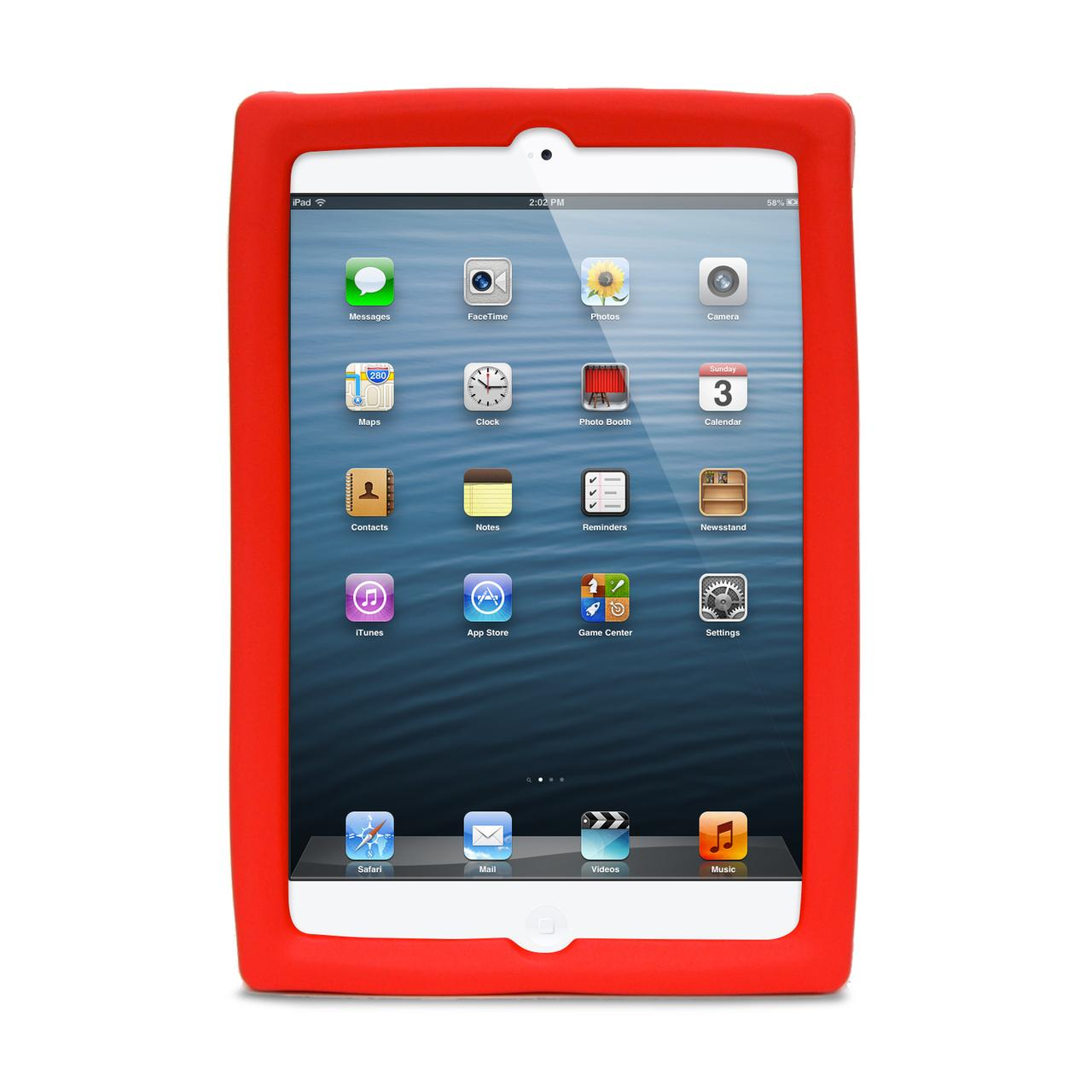 Big Grips Tweener Case Red Bulk for iPad Mini 4/3/2/1