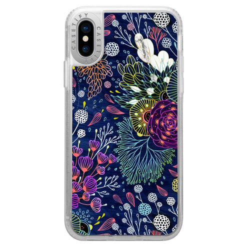 Casetify Grip Case Dark Floral for iPhone XS/X