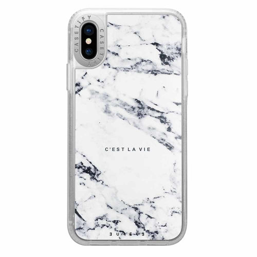 Casetify Grip Case C'est La Vie for iPhone XS/X