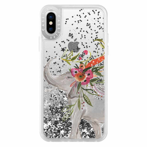 Casetify Gliter Case Boho Elephant for iPhone XS/X