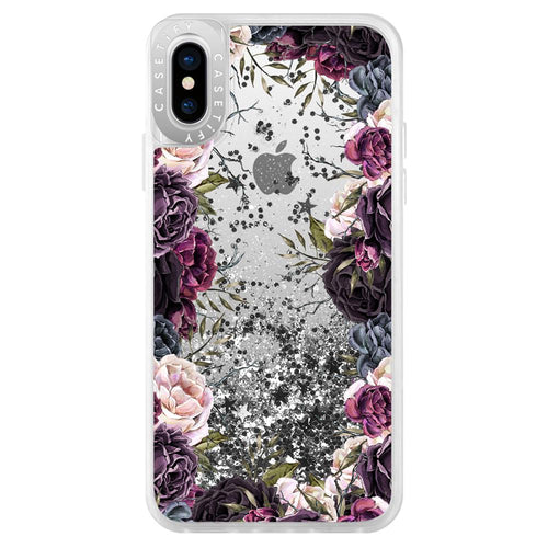 Casetify Glitter Case My Secret Garden for iPhone XS/X