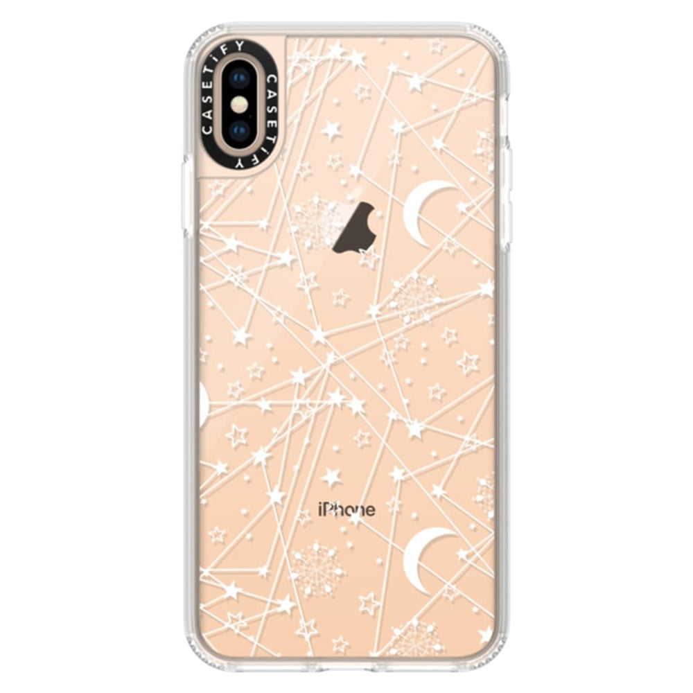 Casetify Grip Case Sun Moon Stars White for iPhone XS Max