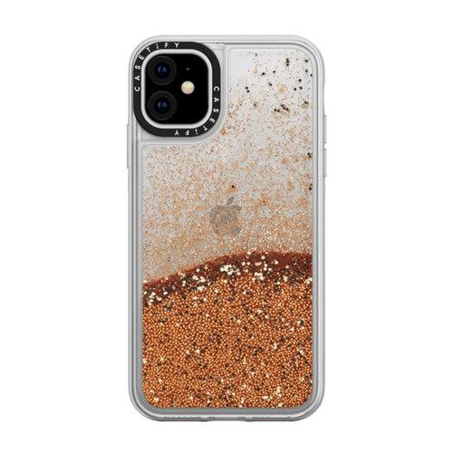 Casetify Glitter Case Gold Chrome for iPhone 11