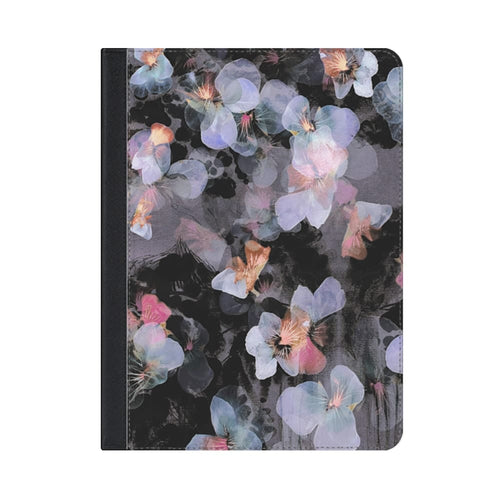 Casetify Folio Case Watercolor Painted Delicate Pansy Petals for iPad 9.7